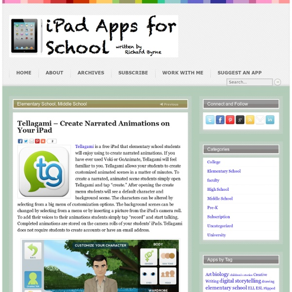 Tellagami – Create Narrated Animations on Your iPad