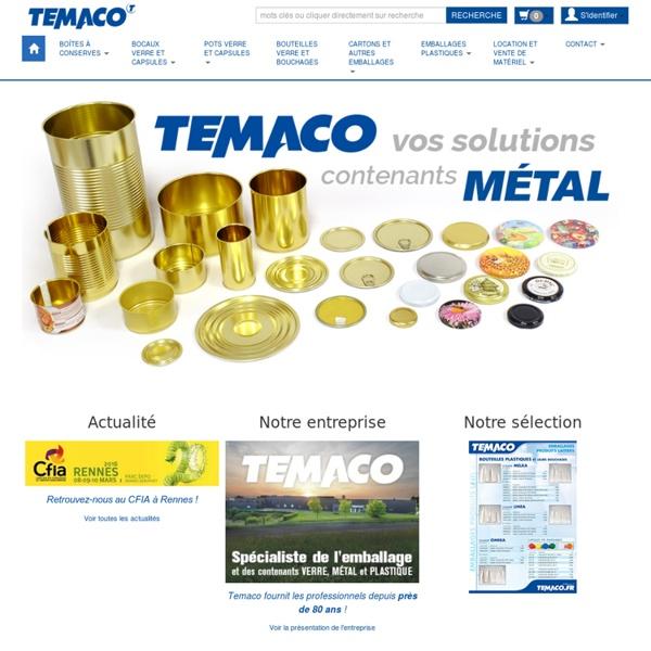 TEMACO - Emballages verre et plastique - Bocaux Pots Verrines Terrines