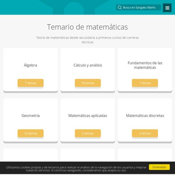 Matemáticas - Temario