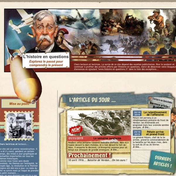 L'histoire en Questions - quizs, anecdotes et temoignages historiques