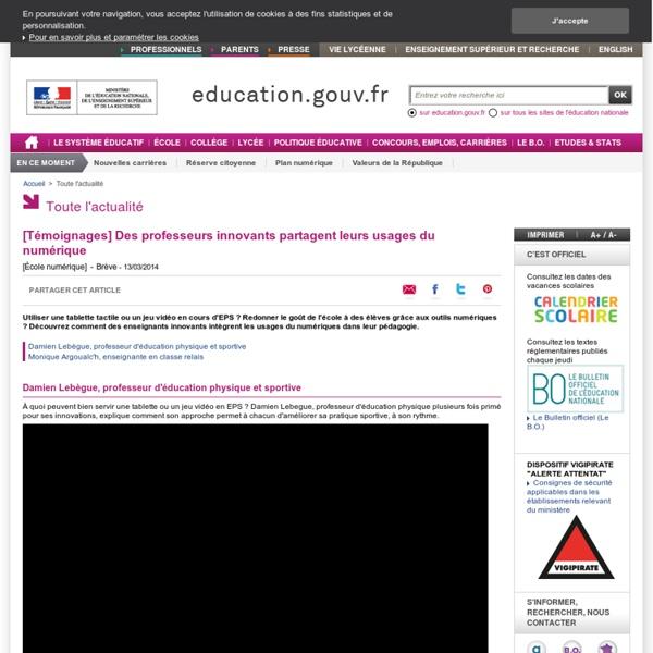 [Témoignages] Des professeurs innovants partagent leurs usages du numérique