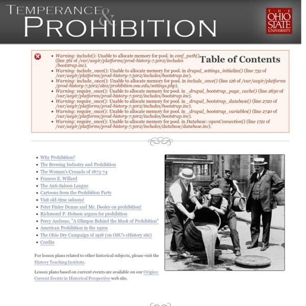 Temperance & Prohibition