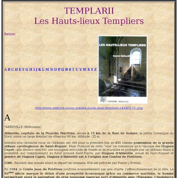 TEMPLARII - Hauts-lieux templiers