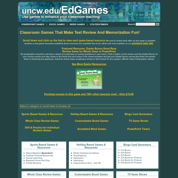 test review games for classrooms