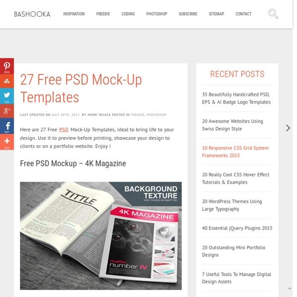 27 Free PSD Mock-Up Templates
