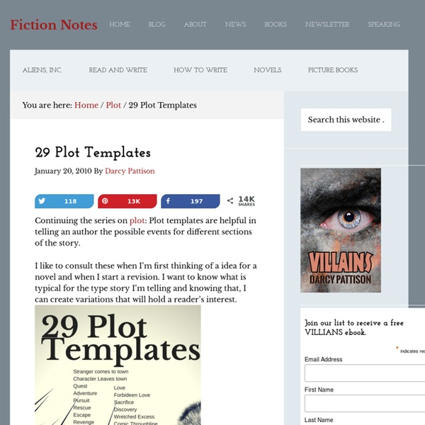 29 Plot Templates | Pearltrees