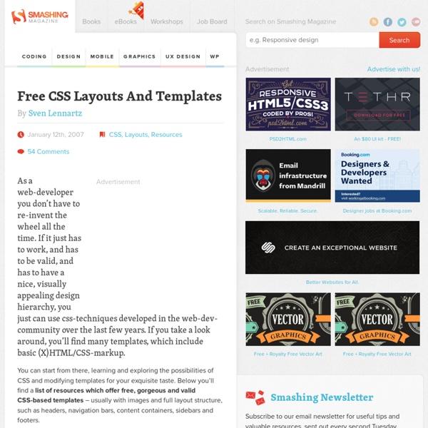 Free CSS Layouts And Templates - Smashing Magazine
