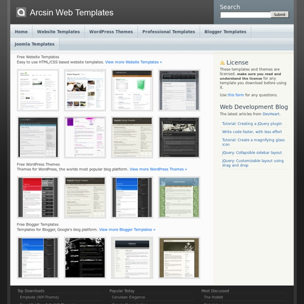 Arcsin Web Templates - Free CSS Templates & WordPress Themes ...