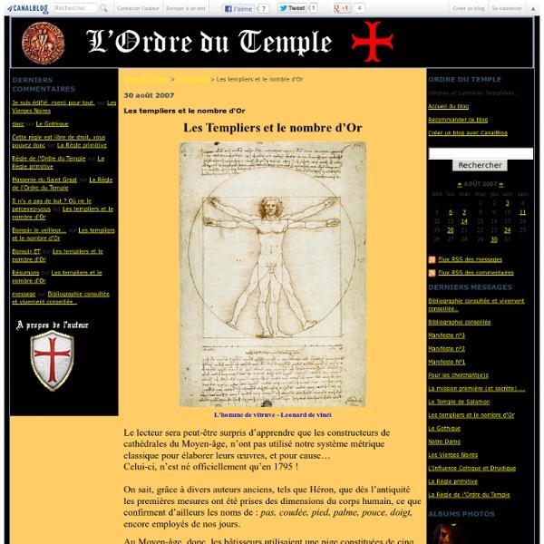 Les templiers et le nombre d'Or - Ordre du Temple