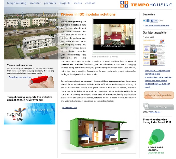 Tempohousing, building with containers