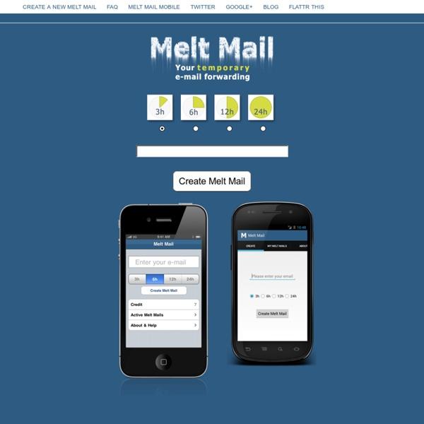 ✉ E-mail desechables