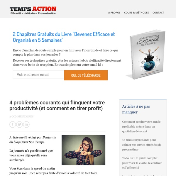Temps action : Réalisez facilement vos tâches et vos projets