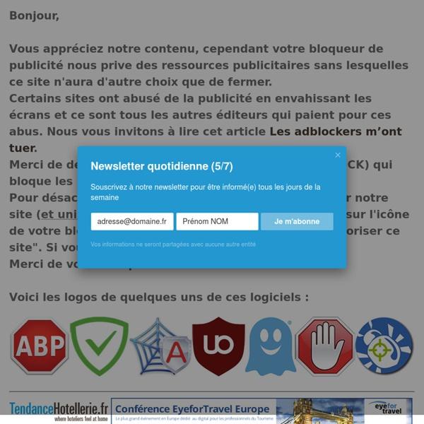 TendanceHotellerie.fr, le 1er webzine 100% dédié à l'hôtellerie
