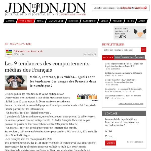 Les 9 tendances des comportements médias des Français