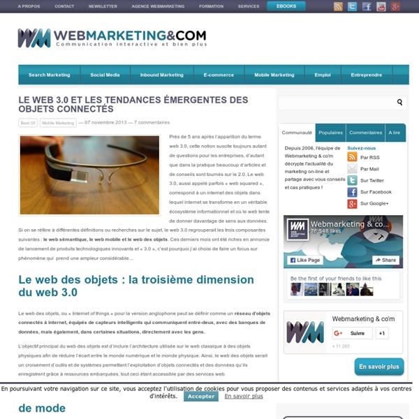 Le web 3.0 et les tendances émergentes des objets connectés