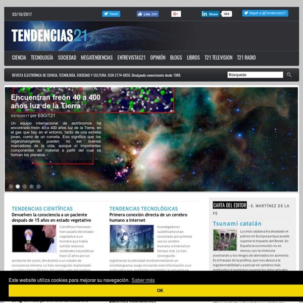 Tendencias 21. Ciencia, tecnología, sociedad y cultura