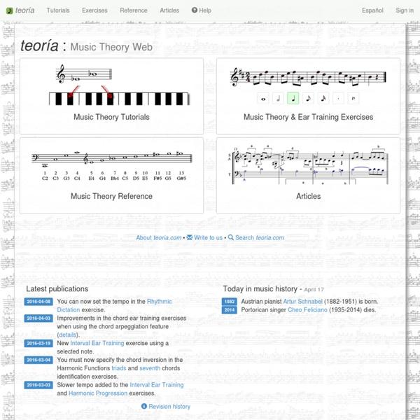 Teoría - Music Theory Web