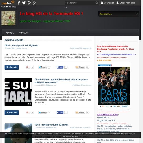 Le blog HG des Terminales L1 et ES2 - Lycée Van Dongen Lagny-sur-Marne