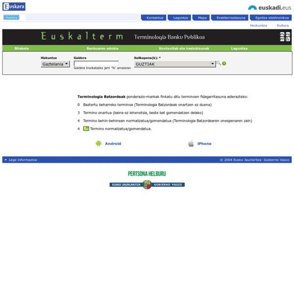 Euskalterm, Euskal Terminologia banku publikoa
