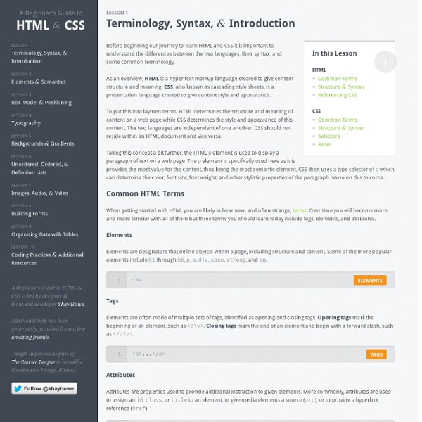 A Practical Guide to HTML & CSS - Learn How to Build Websites