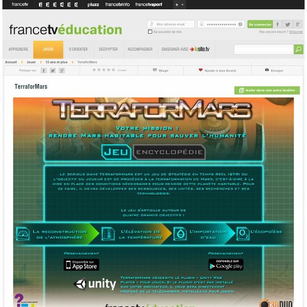 TerraforMars - serious game de terraformation de la planète Mars - ...