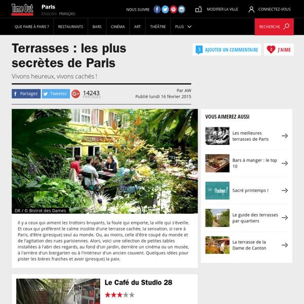 Bar : Top 10 des terrasses cachées