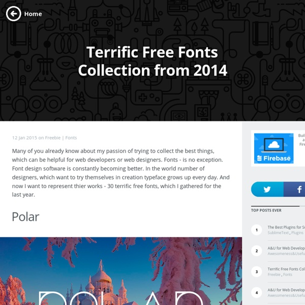 Terrific Free Fonts Collection from 2014