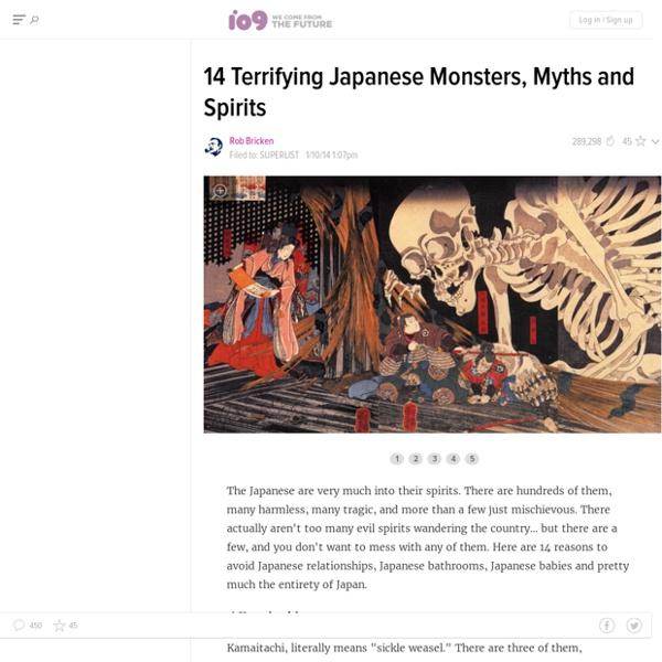 Io9 - 14 terrifying Japanese monsters myths & spirits