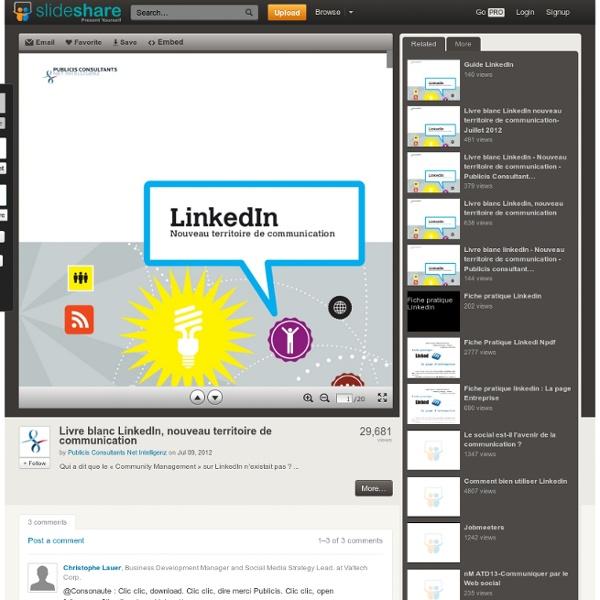 Livre blanc LinkedIn, nouveau territoire de communication