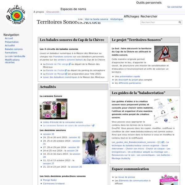 Territoires Sonores:Accueil - Territoires Sonores