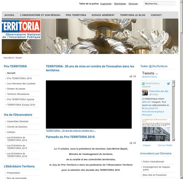 TERRITORIA Observatoire National de l'Innovation Publique