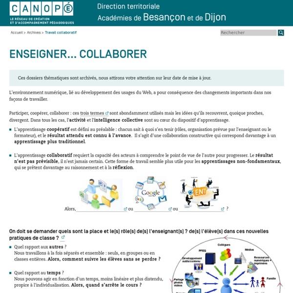 CRDP de l'académie de Besançon : Travail collaboratif