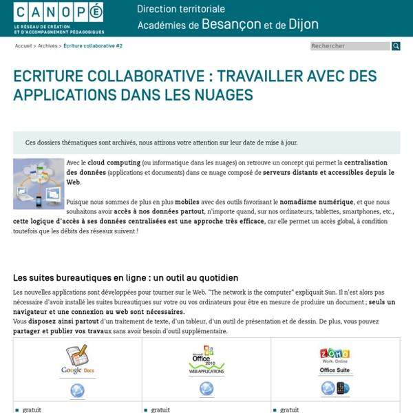 CRDP de Franche-Comté : Écriture collaborative #2
