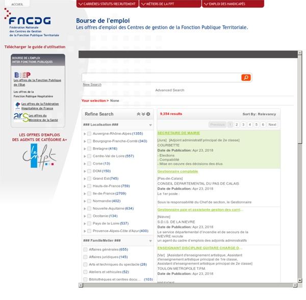 FNCDG - Centres de Gestion de la fonction publique territoriale à destination des agents titulaires et non titulaires