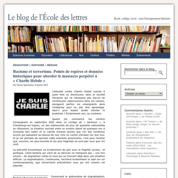 Racisme et terrorisme. Points de repères et données historiques pour aborder le massacre perpétré à «Charlie Hebdo»