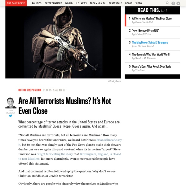 Are All Terrorists Muslims? It's Not Even Close