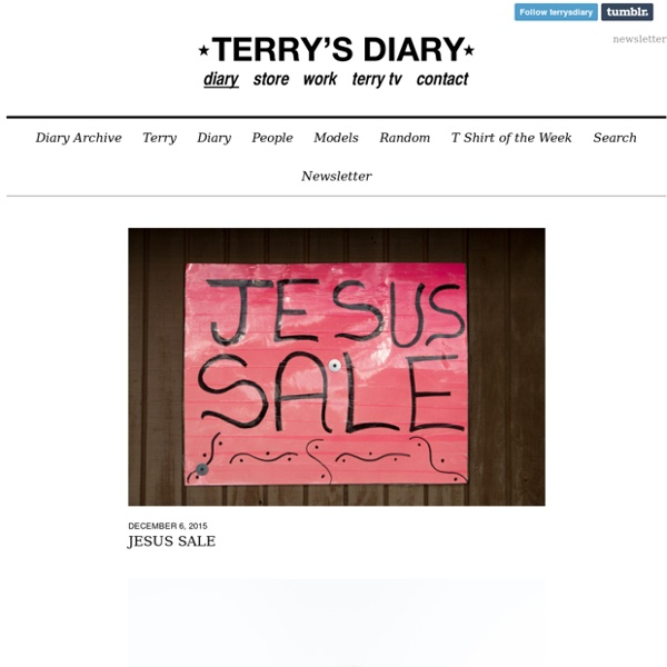 Terry Richardson's Diary