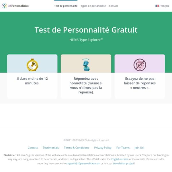 Test de Personnalité Gratuit