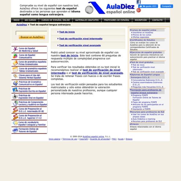 Test de español - AulaDiez