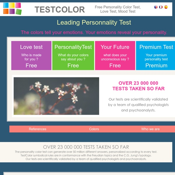 FREE color personality test mood test and love test  Pearltrees