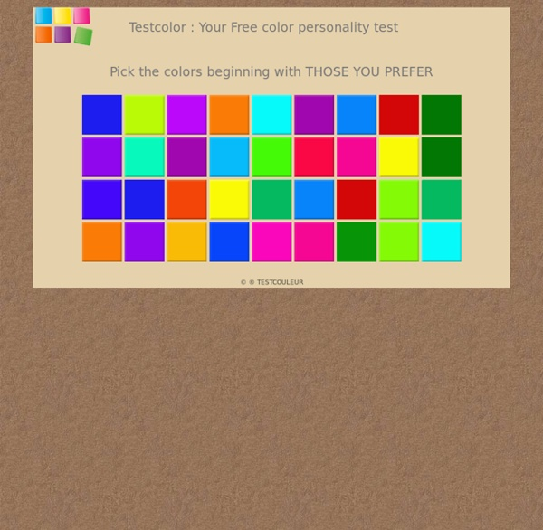 Test color  free of charge personality test  Pearltrees