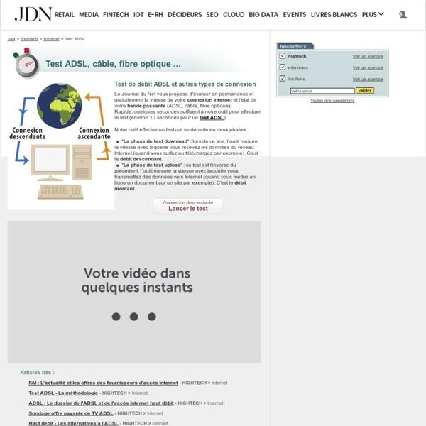 test adsl tester sa connexion bande passante et d bit avec le jdn pearltrees. Black Bedroom Furniture Sets. Home Design Ideas