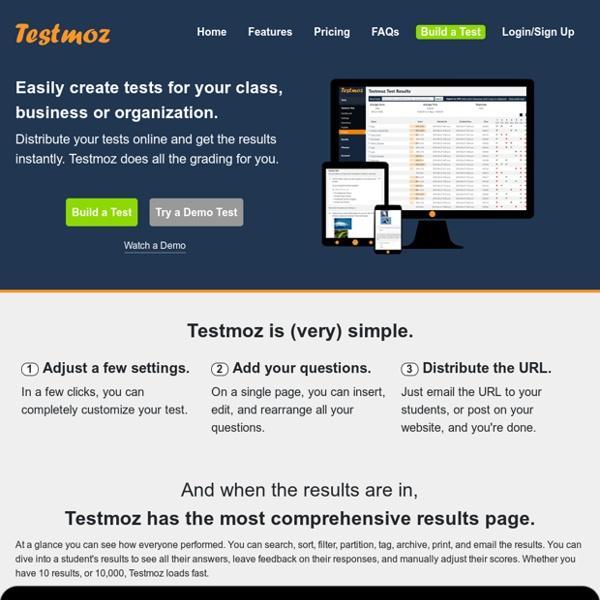 Testmoz - The Test Generator