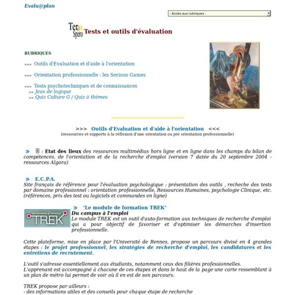 Tests et outils d'Evaluation