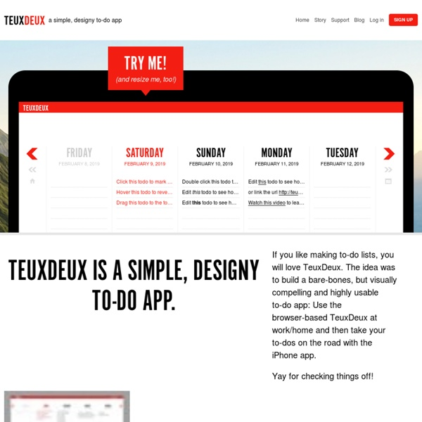 TeuxDeux / Browser-based to-do lists