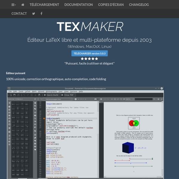 Texmaker : Free LaTeX Editor
