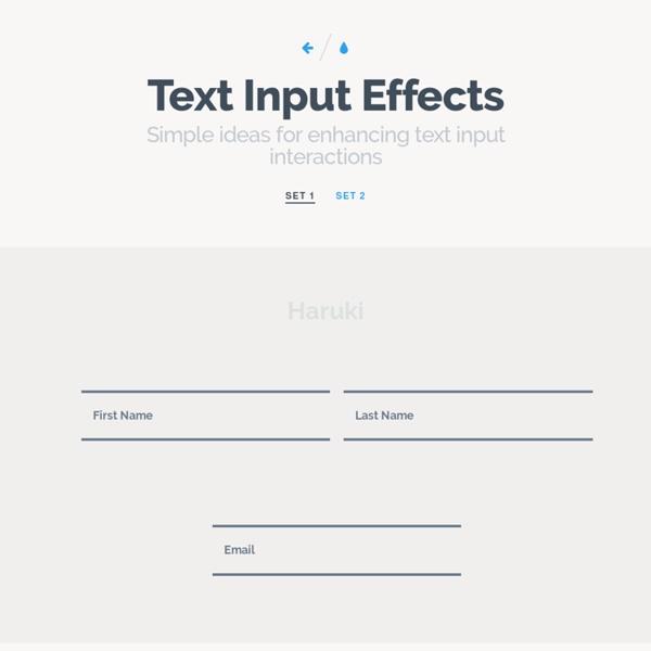 Text Input Effects