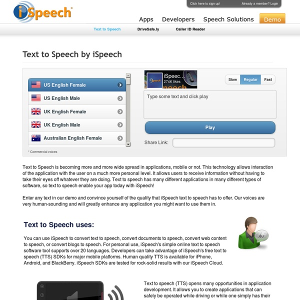 Free Text to Speech SDK
