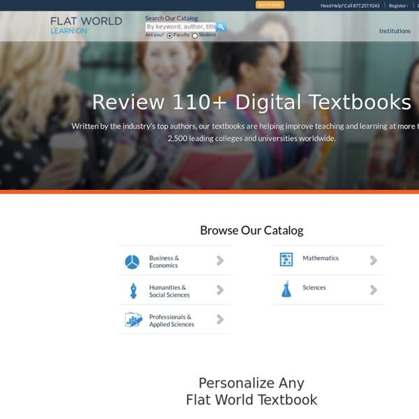 100+ eTextbooks Online for Higher Ed