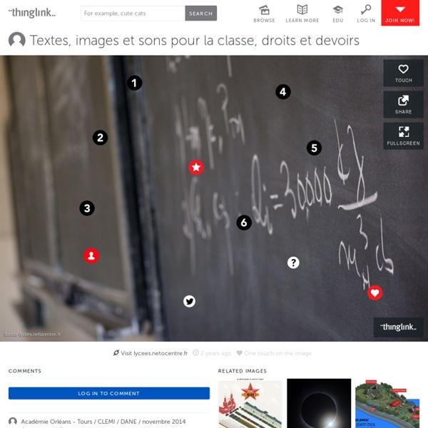Textes, images et sons pour la classe, droits et devoirs